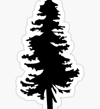 Plain Black Tree | Doug Fir/Pine/Evergreen Sticker