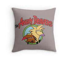 Angry Beavers Throw Pillow