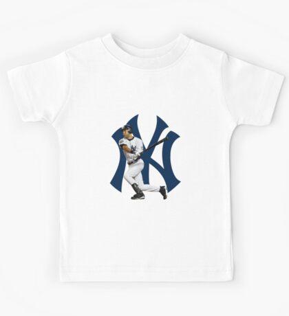 Baseball bat derek jetter Kids Tee