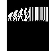 Evolution of Man Barcode Photographic Print