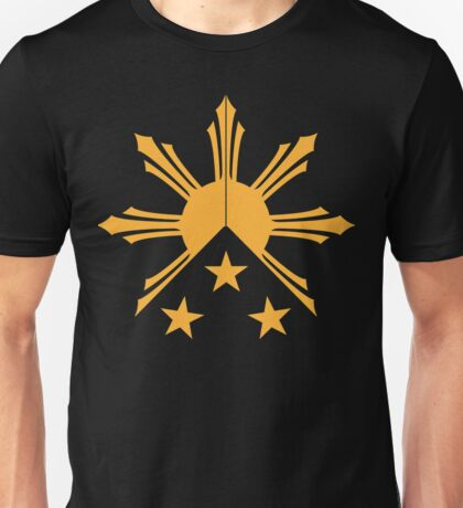 Tribal Philippines Filipino Sun and Stars Flag Unisex T-Shirt