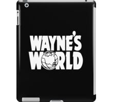 Wayne's World (HD vector graphic) iPad Case/Skin