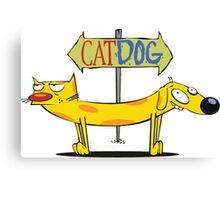 CatDog Pocket Tee Canvas Print