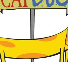 CatDog Pocket Tee Sticker