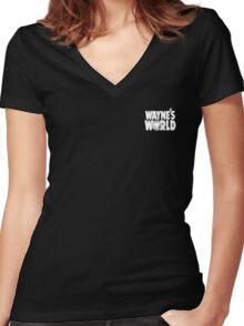 Wayne's World POCKET TEE Women's Fitted V-Neck T-Shirt