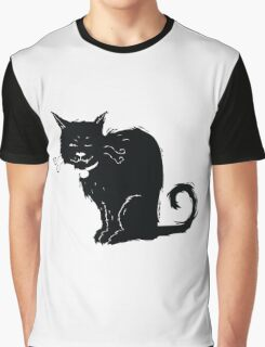 One-Eyed Cat Graphic T-Shirt
