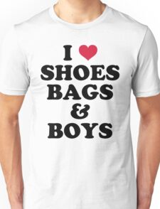 Shoes, Bags & Boys Funny Quote Unisex T-Shirt
