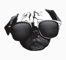 Caesar the Pug in Rayban Sunglasses by AiReal Apparel Kids Tee