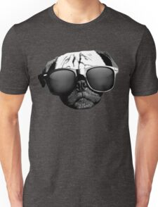 Caesar the Pug in Rayban Sunglasses by AiReal Apparel Unisex T-Shirt
