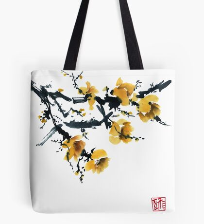 Yellow plum tree Tote Bag