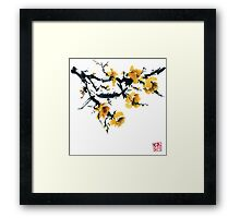Yellow plum tree Framed Print