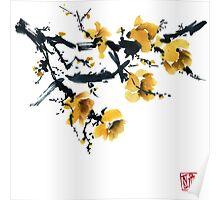 Yellow plum tree Poster