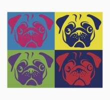 Pug Pop Art By AiReal Apparel Kids Tee