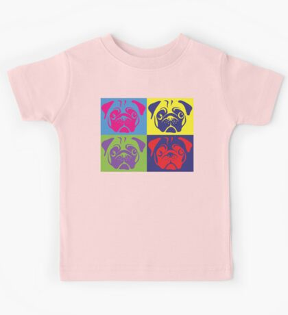 Pug Pop Art By AiReal Apparel Kids Tee