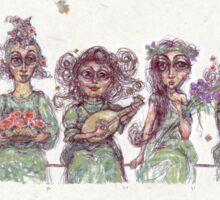 Concept Sketch for Original Incognito Witches Sticker