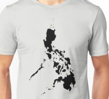 Philippines Map Black by AiReal Apparel Unisex T-Shirt