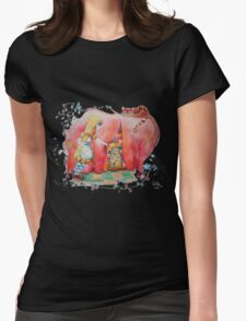 Alice in Worderland, opening the small door fanart Womens Fitted T-Shirt