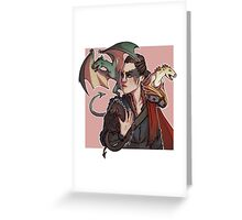 Heda, Mother of Dragons Greeting Card