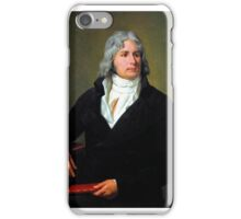 Louis-François_Bertin_,_by_François-Xavier_Fabre, man,black coat,white hair  iPhone Case/Skin