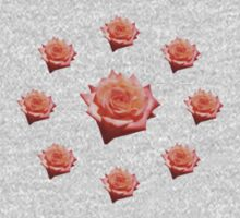 Orange Rose with Droplets One Piece - Long Sleeve