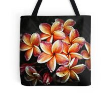 Colorful flower Plumeria or Frangipani Tote Bag