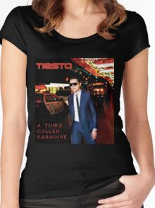 Tiesto - A Town Called Paradise Women's Fitted Scoop T-Shirt