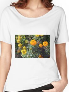 Beautiful yellow flowers in the garden. Women's Relaxed Fit T-Shirt