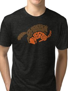 The Quick Brown and Lazy Dog Tri-blend T-Shirt