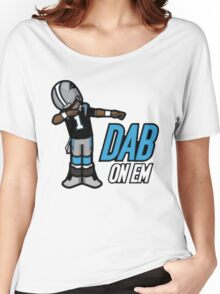 carolina panther dab on em Women's Relaxed Fit T-Shirt