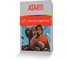ET Atari Box Greeting Card