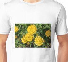 Yellow flowers in the garden. Unisex T-Shirt