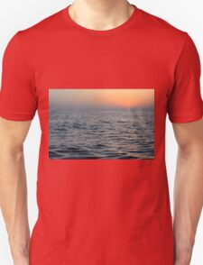 The sunset at the sea. Unisex T-Shirt