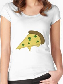 Broccoli Pizza Women's Fitted Scoop T-Shirt