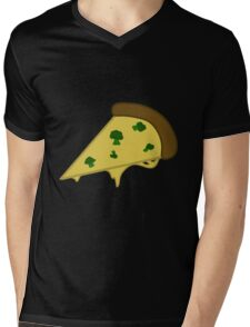 Broccoli Pizza Mens V-Neck T-Shirt