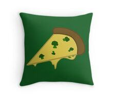 Broccoli Pizza Throw Pillow