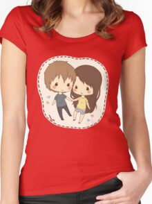 cute chibi couple  Women's Fitted Scoop T-Shirt