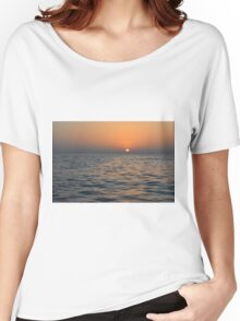 The sunset at the sea. Women's Relaxed Fit T-Shirt