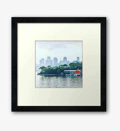 Sydney City from Balmain Framed Print