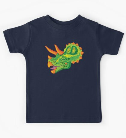 Triceratops (lime) Kids Clothes