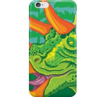 Triceratops (lime) iPhone Case/Skin