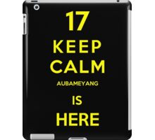 Keep calm aubameyang is here iPad Case/Skin