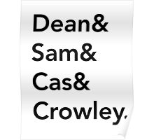 Supernatural characters Poster