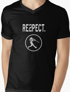 Derek Jeter Respect Mens V-Neck T-Shirt