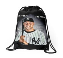 Derek Jeter smile Drawstring Bag