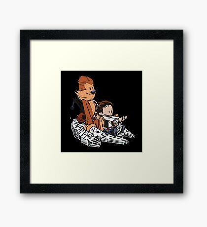 Chewie And Han Framed Print