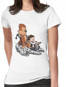 Chewie And Han Womens Fitted T-Shirt