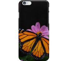 Monarch on Black iPhone Case/Skin