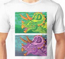 Triceratops (lime + grape) Unisex T-Shirt