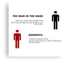 Daredevil Costumes Canvas Print