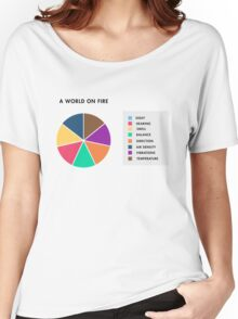 A World On Fire Women's Relaxed Fit T-Shirt